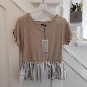 NWT Womanity Italian linen short sleeve top
